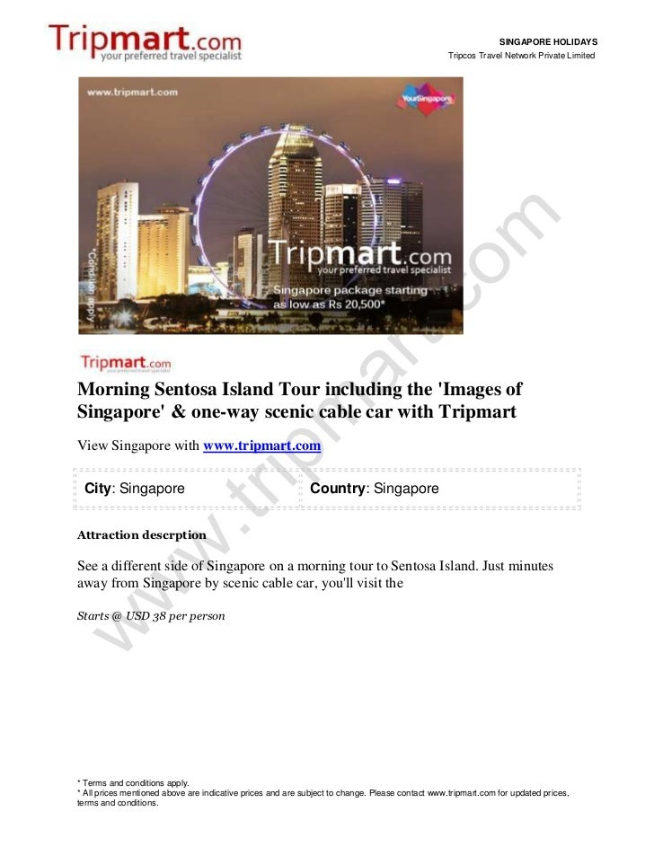 Singapore holidays-one-way