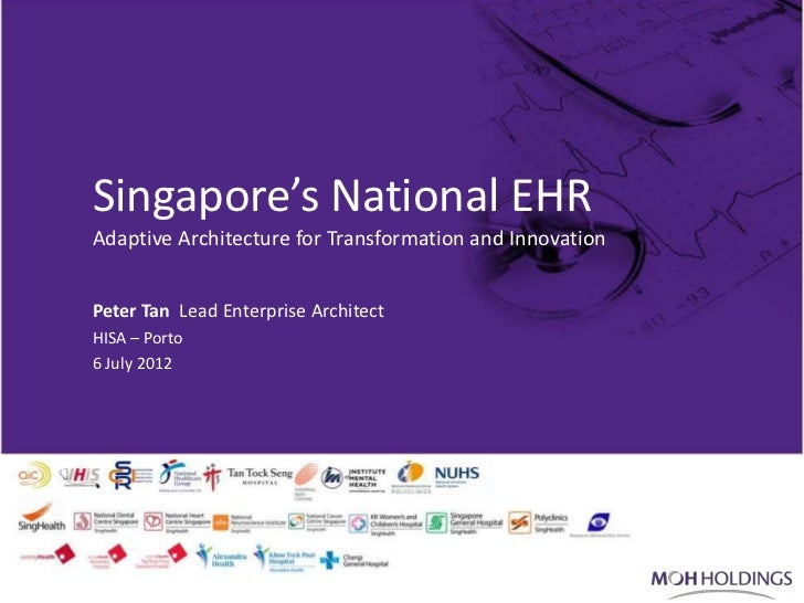 Singapore's National EHR           Adaptive Architecture for Transformation and Innovation           Peter Tan Lead Enterp...