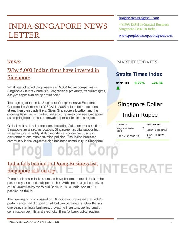 proglobalcorp@gmail.com  INDIA-SINGAPORE NEWS LETTER  +919971504105-Special Business Singapore Desk In India www.proglobal...