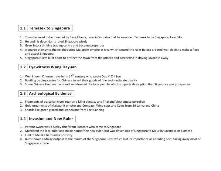 1.1Temasek to Singapura<br />Town believed to be founded by Sang Utama, ruler in Sumatra that he renamed Temasek to be Sin...