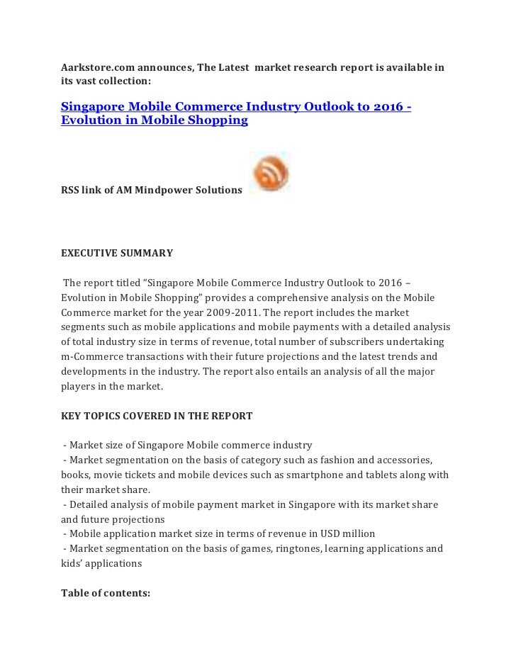 Singapore mobile commerce industry outlook to 2016   evolution in mobile shopping
