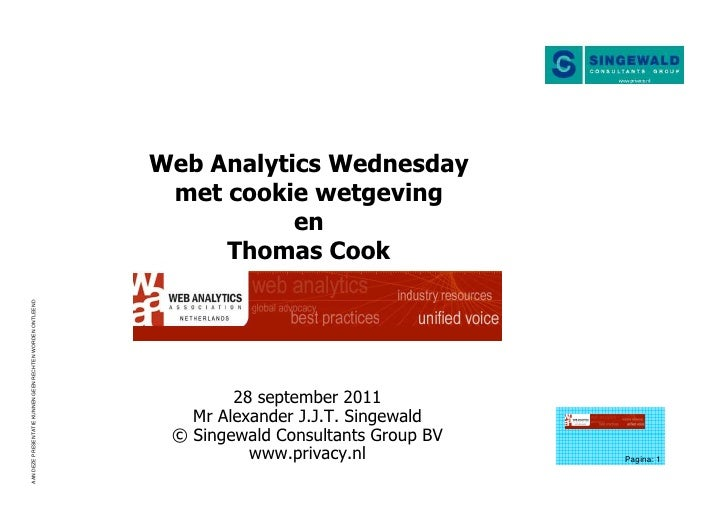 Singewald over cookiewetgeving bij Web Analytics Wednesday