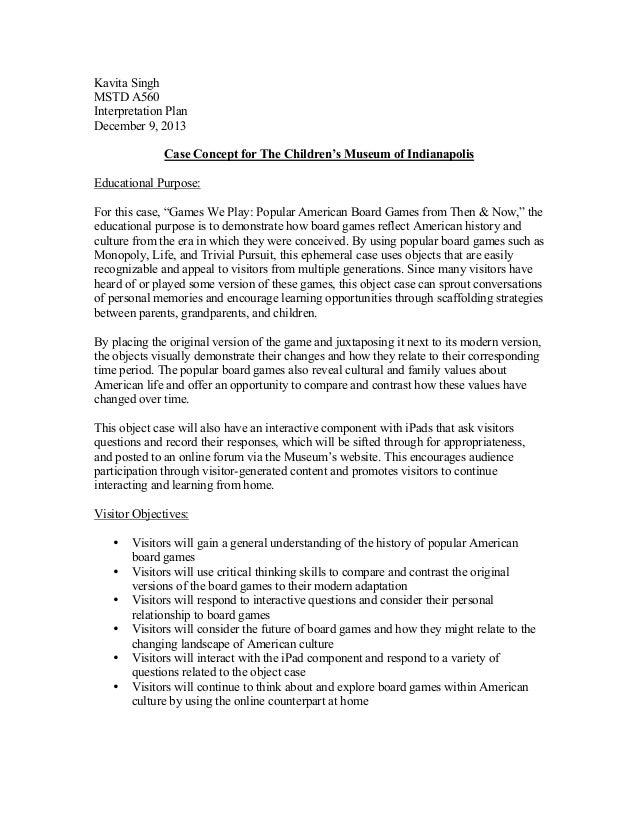 Exhibit Case Concept for The Children's Museum of Indianapolis
