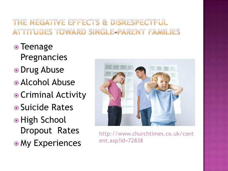 single parent family negative effects University logo single-parenting and its effects on as the single-parent families negative effect of the number of.