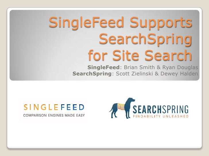 SingleFeed Supports SearchSpring
