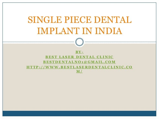 Single piece dental implant in india