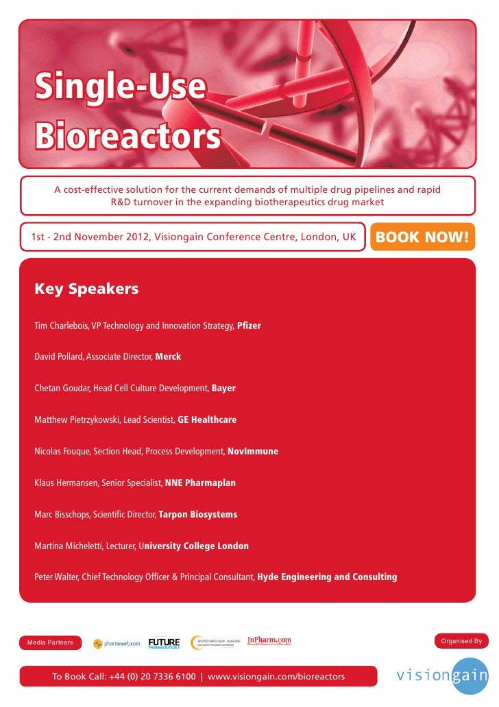 Single Use Bioreactors (2012)