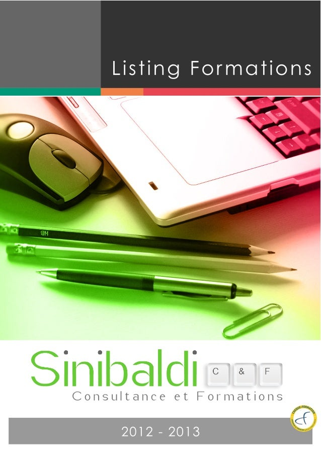 Listing Formations2012 -­ 2013