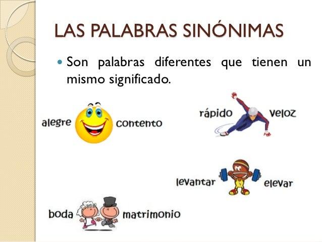 palabras sinonimas ilustradas que es la pros