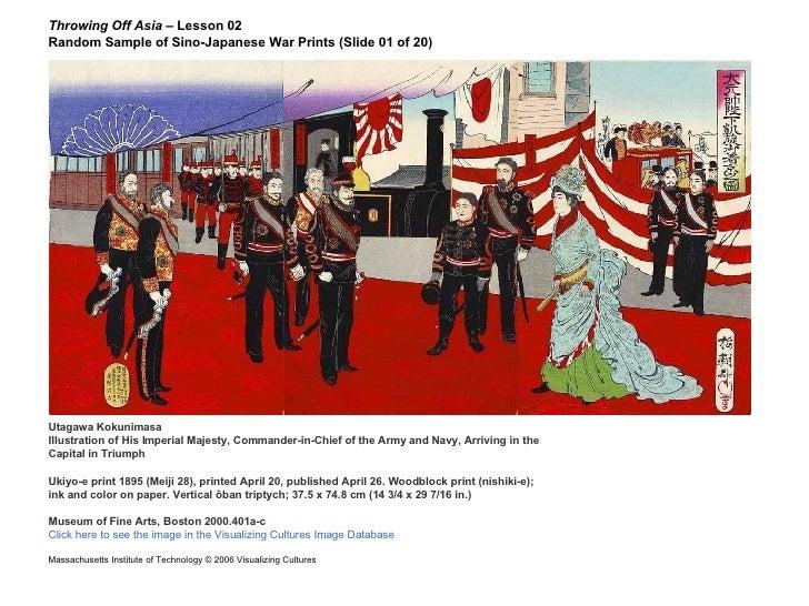 Throwing Off Asia  – Lesson 02  Random Sample of Sino-Japanese War Prints (Slide 01 of 20) Utagawa Kokunimasa Illustration...