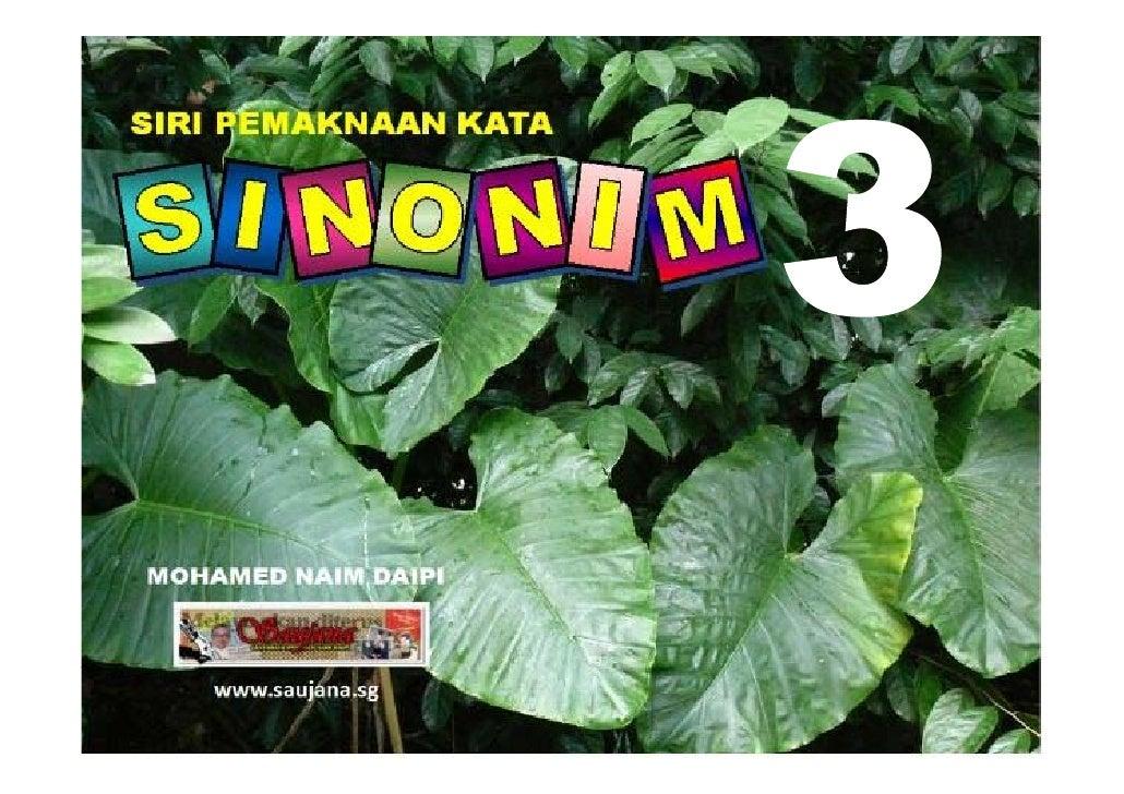 Sinonim P5/P6 bilangan 3