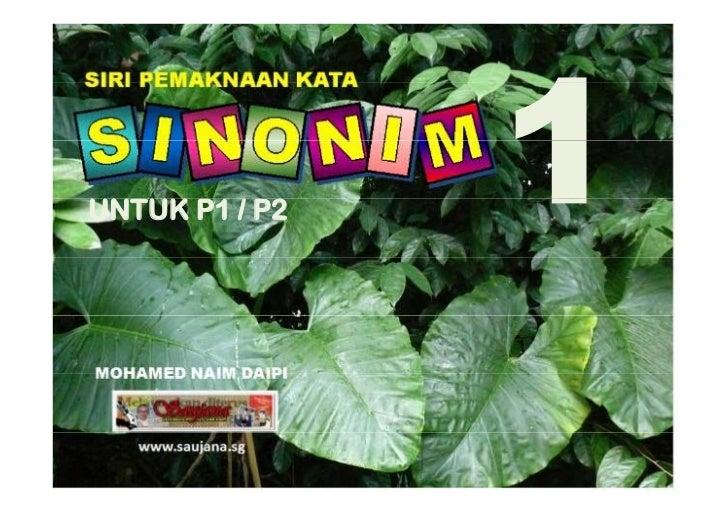 Sinonim P1/P2 bilangan 1