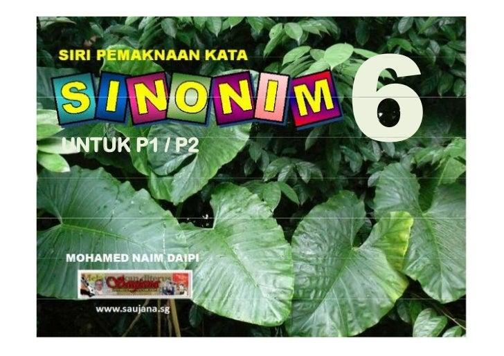 Sinonim P1/P2 Bilangan 6
