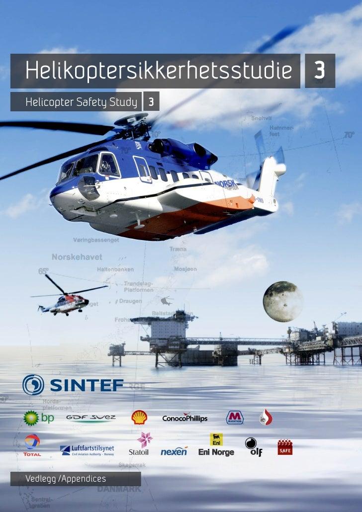Helikoptersikkerhetsstudie 3 (Hss 3) Vedleggsrapport
