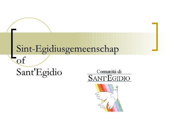 Sint-Egidiusgemeenschap of Sant'Egidio