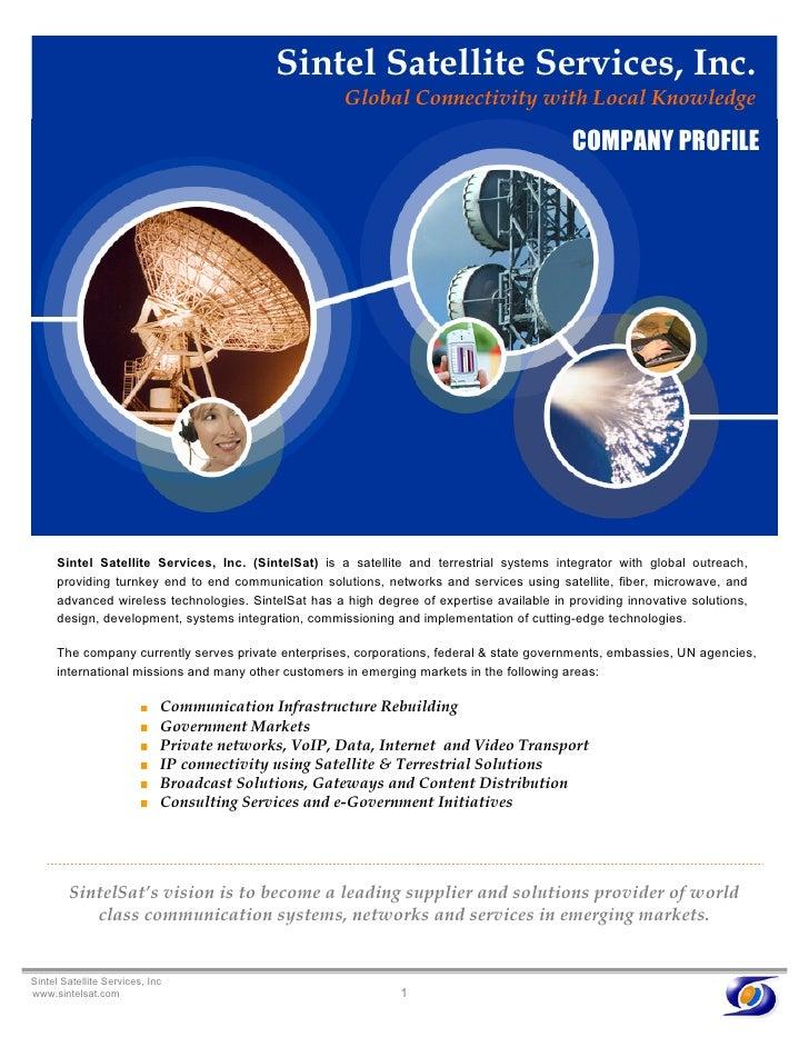Sintel Satellite Services Brochure