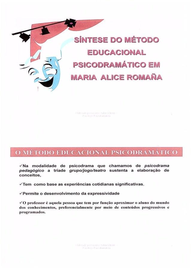 Sintese do-metodo-educacional-psicodramatico-maria-alicia-romaña