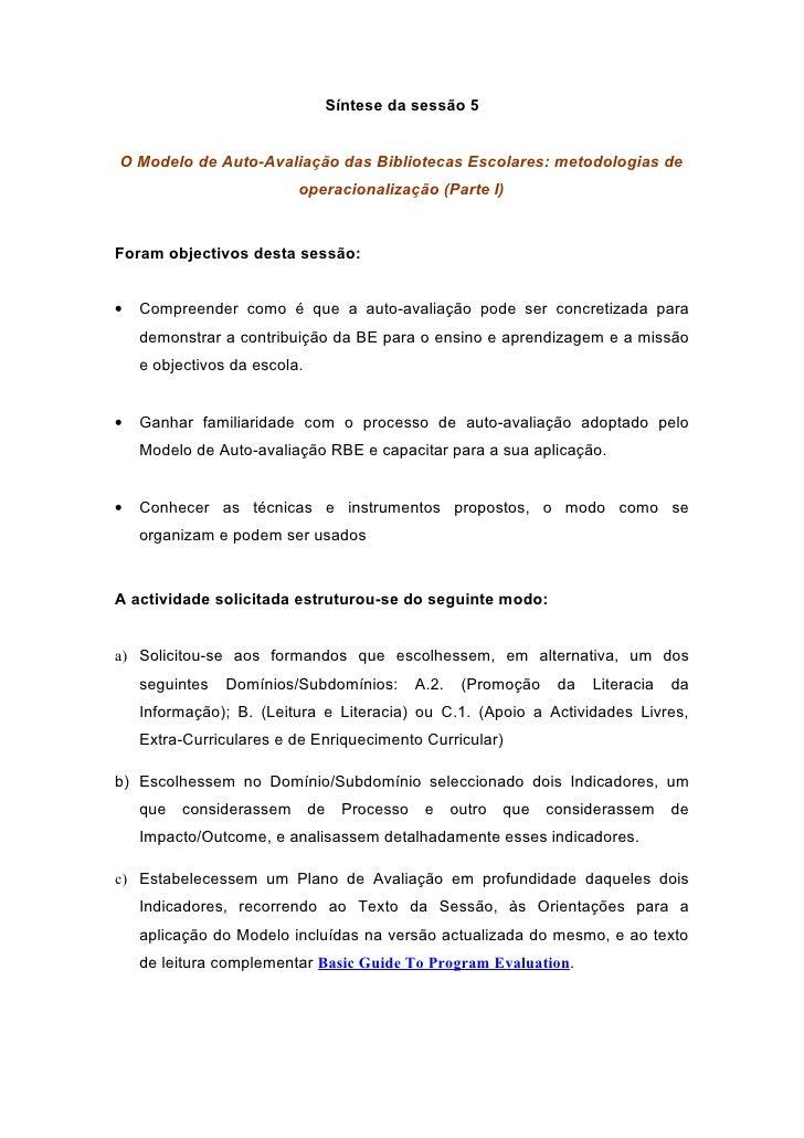 Sintese4  Metodologias Operacionalizacao Parte I Drealg T2 Dez09