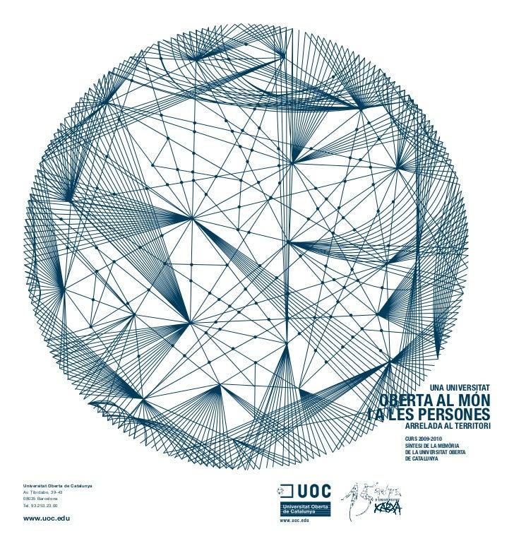 Memòria de la UOC. Curs 2009-2010 (Síntesi)