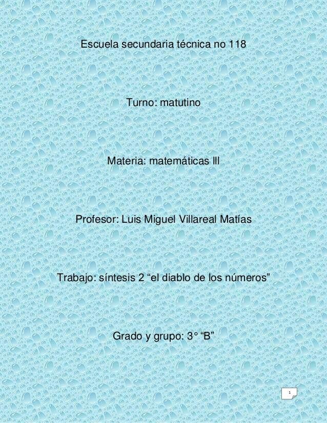 Escuela secundaria técnica no 118              Turno: matutino          Materia: matemáticas lll   Profesor: Luis Miguel V...