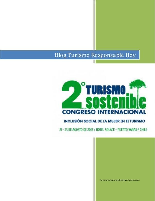 turismoresponsablehoy.worpress.com Blog Turismo Responsable Hoy
