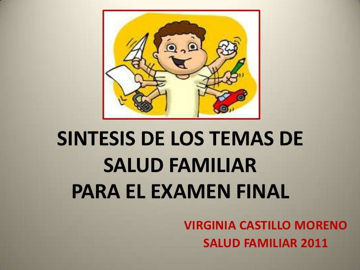 Sintesis de los temas de Salud Familiar.