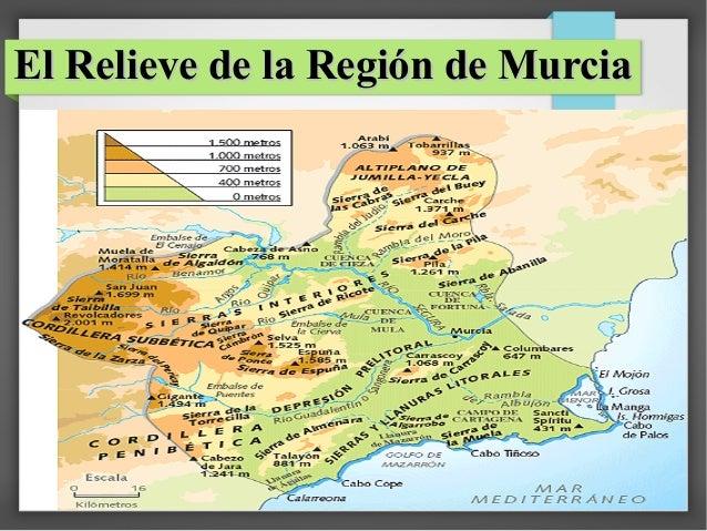 El Relieve de la Región de Murcia