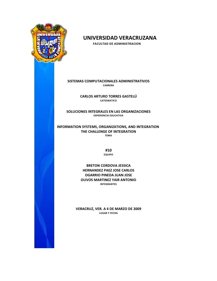 UNIVERSIDAD VERACRUZANA                   FACULTAD DE ADMINISTRACION          SISTEMAS COMPUTACIONALES ADMINISTRATIVOS    ...
