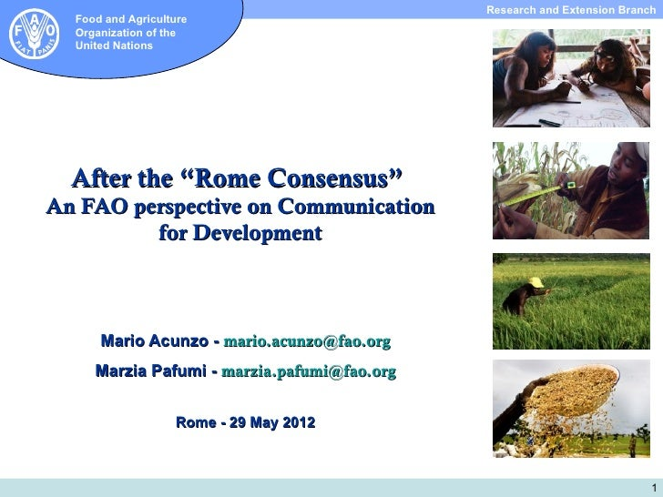 "SIO ipresentation: After the ""Rome Consensus"""
