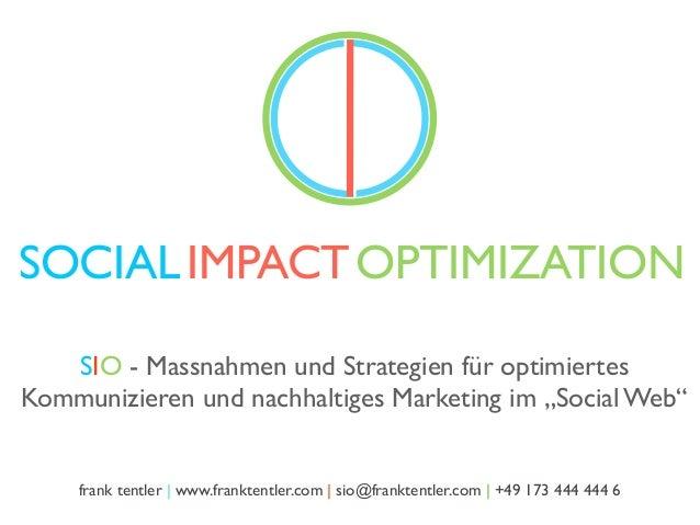 SIO - Social Web Optimization. Ein Überblick