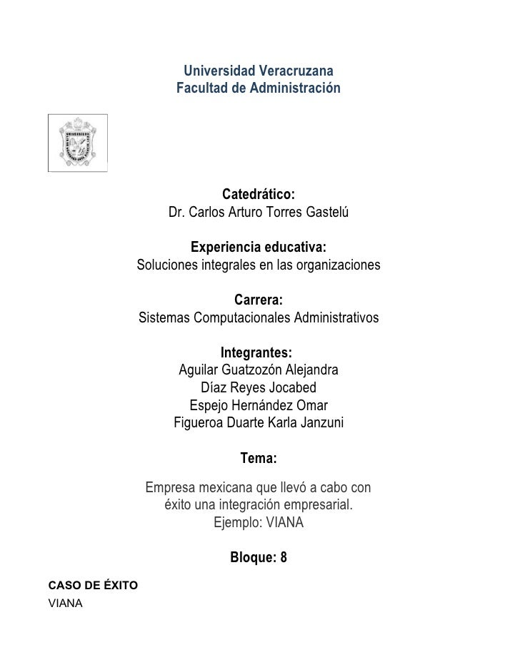 Universidad Veracruzana                       Facultad de Administración                                   Catedrático:   ...