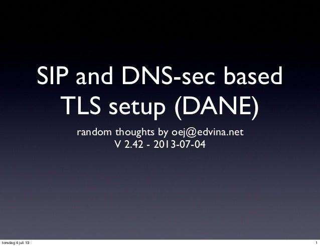 DANE-based TLS verification in the SIP protocol (v 2)