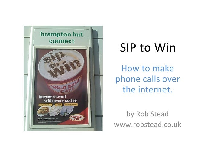 SIP to Win: VOIP telephony
