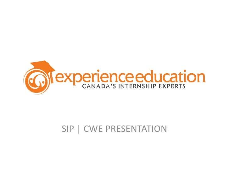 SIP   CWE PRESENTATION