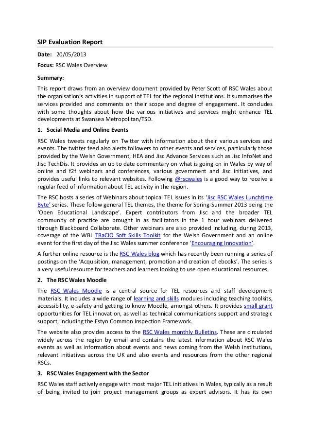 Sip evaluation report 20513