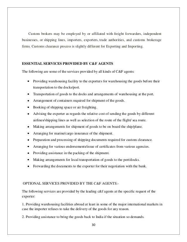 customs broker cover letter - Template