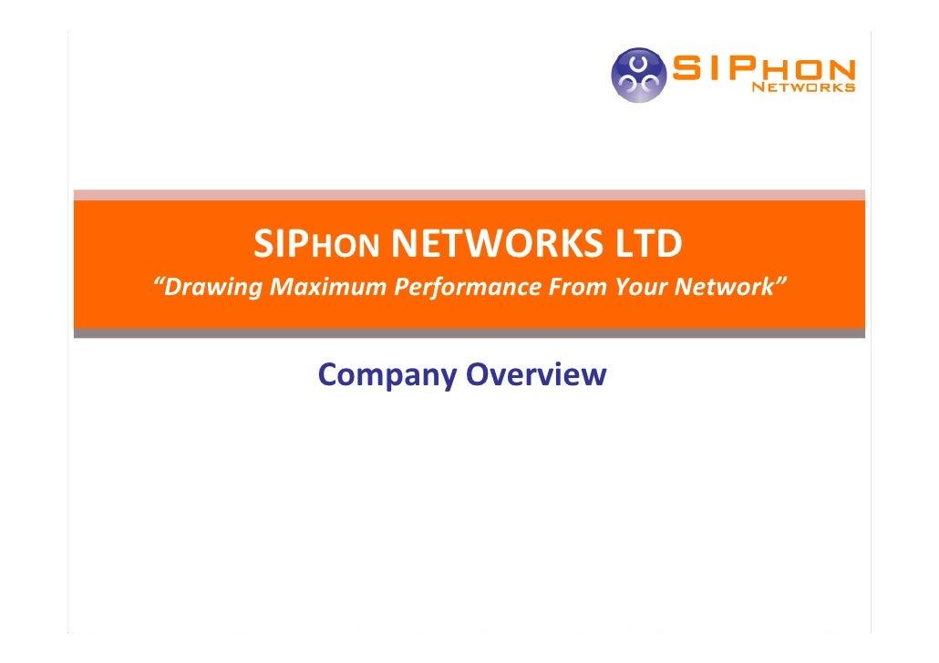 Siphon Networks Overview V1