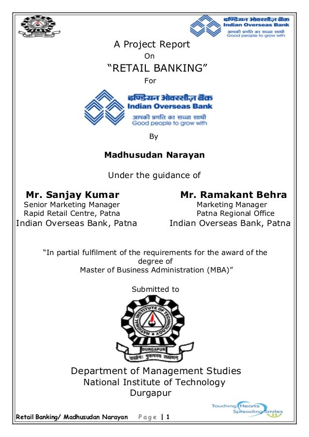 summer project on retail banking