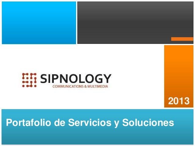 2013 Portafolio de Servicios y Soluciones