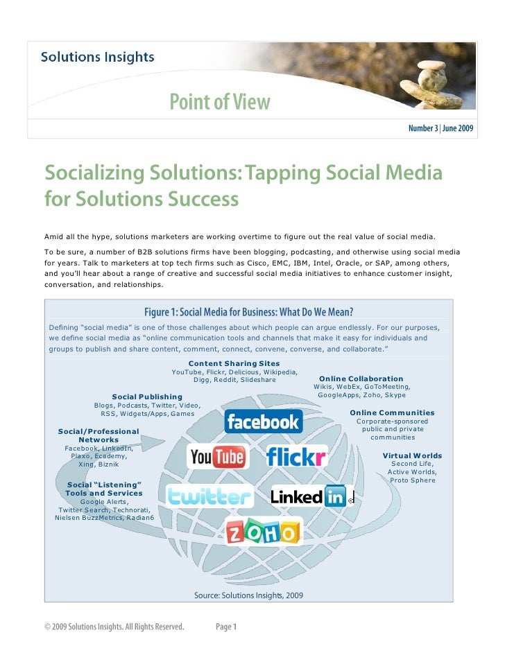 Socializing Solutions: Tapping Social Media for Solutions Success