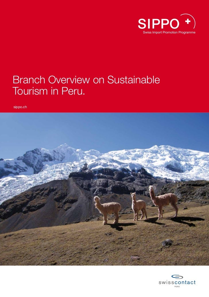Branch Overview on SustainableTourism in Peru.sippo.ch
