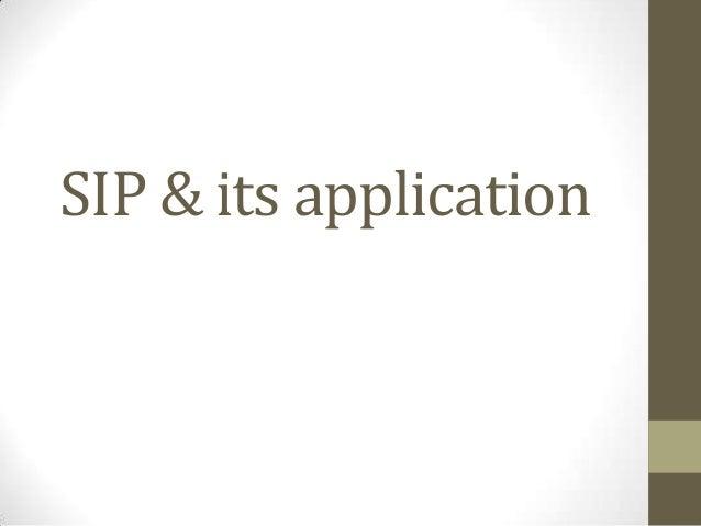 SIP & its application