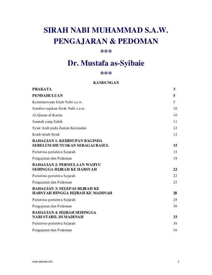 SIRAH NABI MUHAMMAD S.A.W.          PENGAJARAN & PEDOMAN                      ***             Dr. Mustafa as-Syibaie      ...
