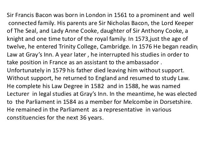 francis bacon essay of youth and age analysis