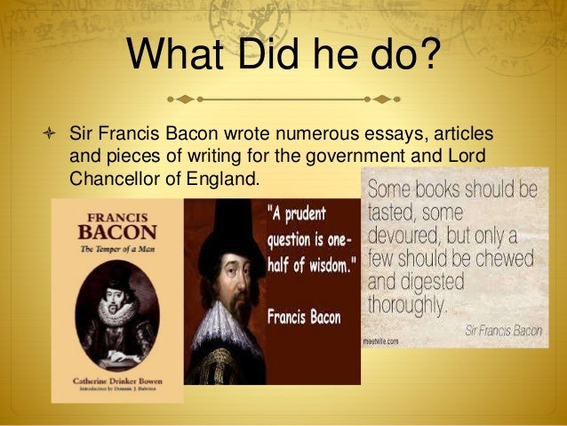 "critical analysis essays francis bacon An analysis ""of studies"" by francis bacon his first analysis is an exposition on the purposes or uses the essays of bacon are to be read."