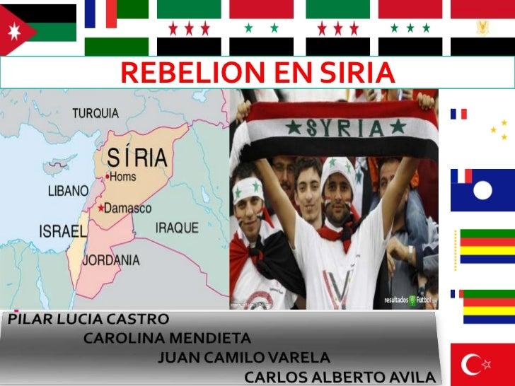 REBELION EN SIRIA