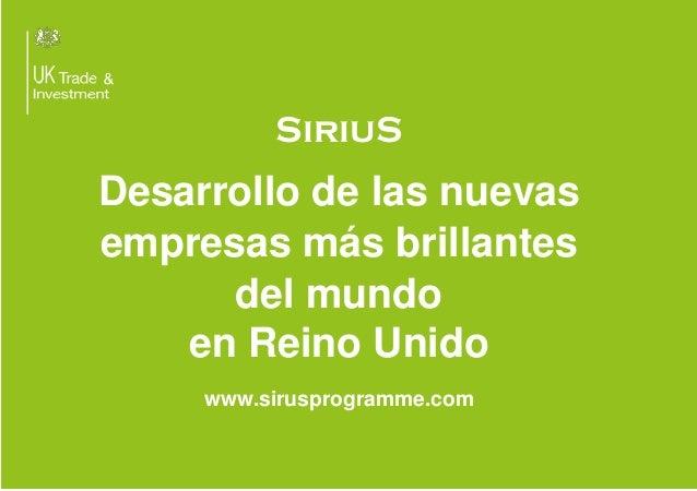 Sirius Programme_Trae tu idea al Reino Unido