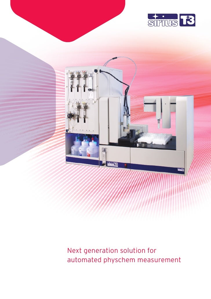Next generation solution for automated physchem measurement