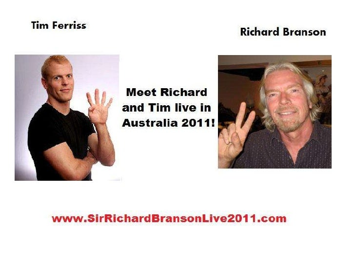 Sir Richard Branson Live Australia 2011
