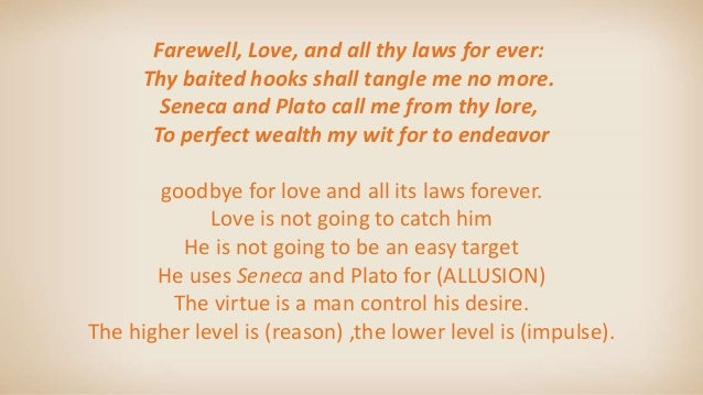 Thomas Wyatt farewell love analysis